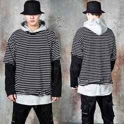Layered striped t-shirts