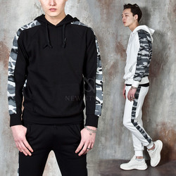 Camouflage contrast hoodie
