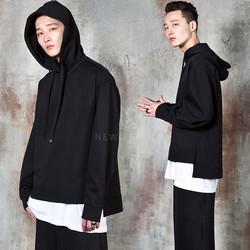 Avant-garde unbalance hoodie