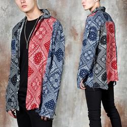Contrast paisley pattern shirts