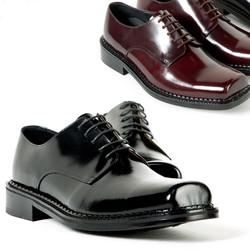 Squared toe plain oxford shoes