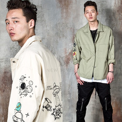 Cartoon shirt jacket