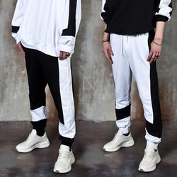 Black and white contrast sweatpants