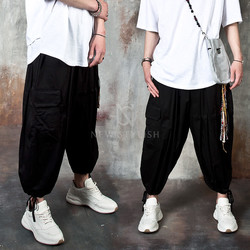 Banded balloon cargo pants