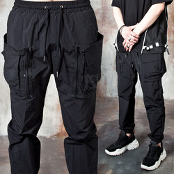 Detachable cargo pocket banded pants