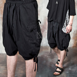 Banded balloon cargo shorts