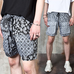 Paisley patterned cargo pocket shorts