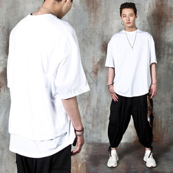 Double layered round hem t-shirts