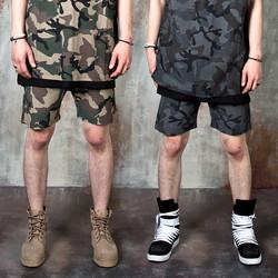 Camouflage banded shorts