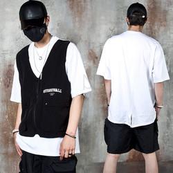 Vest layered t-shirts
