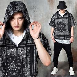 Bandanna anorak hoodie