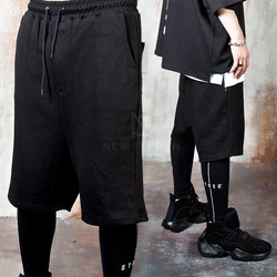 Contrast lettering leggings layered pants