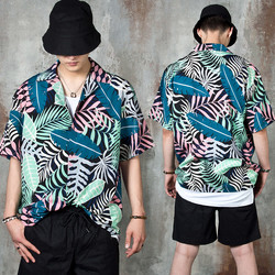 Double pocket short sleeve linen shirts