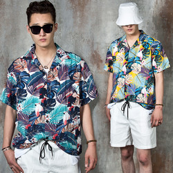 Tropical pattern summer shirts