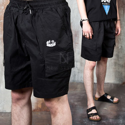 Banded baggy cargo shorts