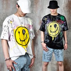Goth smile emoji t-shirts