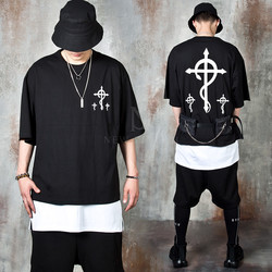 Contrast snake cross t-shirts
