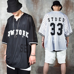 Over-sized New York mesh t-shirts