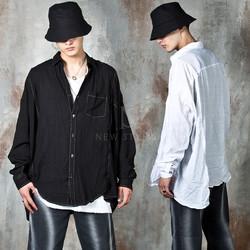 Unbalanced linen shirts