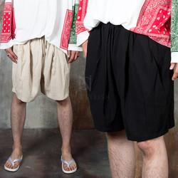 Wide linen shorts