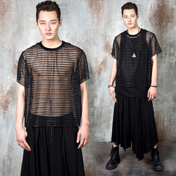 Striped see-through t-shirts