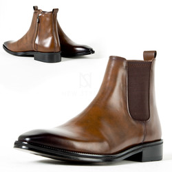 Tan brown chelsea boots
