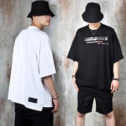 Unbalanced hem oversized t-shirts