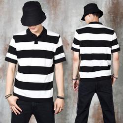 Striped collar t-shirts