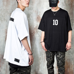 Number 10 printed oversized t-shirts