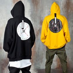 Back strap round logo oversized hoodie