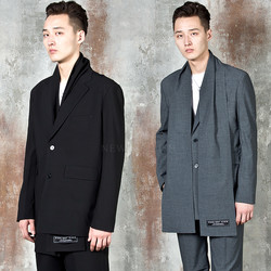 Two button muffler single jacket