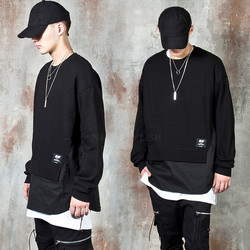Double layered side opening sweatshirts