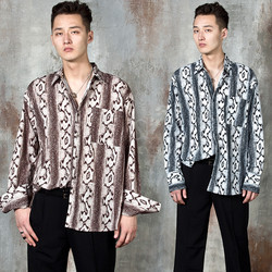 Snake patterned wide cuff shirts