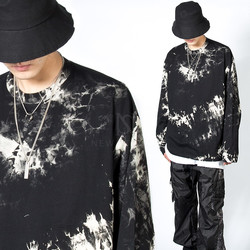 Unique crack patterned long sleeve t-shirts