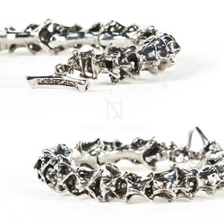 Alien spine metal bracelet