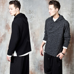 Reversible contrast loose-fit hoodie
