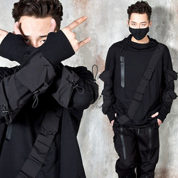 Archer vibe diagonal line pocket warmer hoodie