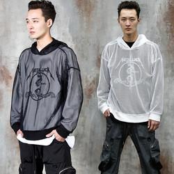 All mesh hoodie