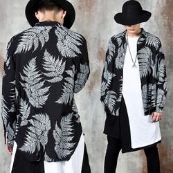 Palm leaf round hem shirts
