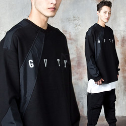 Diagonal contrast sweatshirts