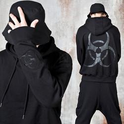 Bio hazard symbol printed hoodie