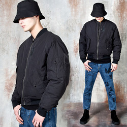 Padded blouson jacket