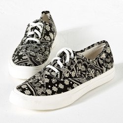 Paisley lace-up slip on sneakers