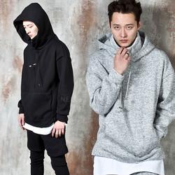 Side opening turtleneck hoodie