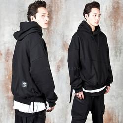 Unbalanced strap hoodie