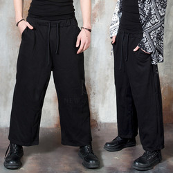 Black wide banded pants