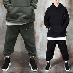String fleece baggy sweatpants
