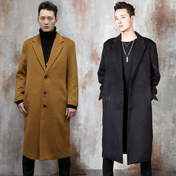 3 button single long coat