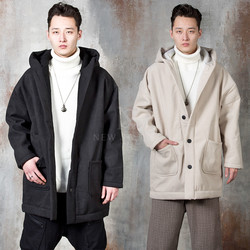 Fleece lined hooded coat