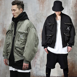3D pocket oversized air-force jacket